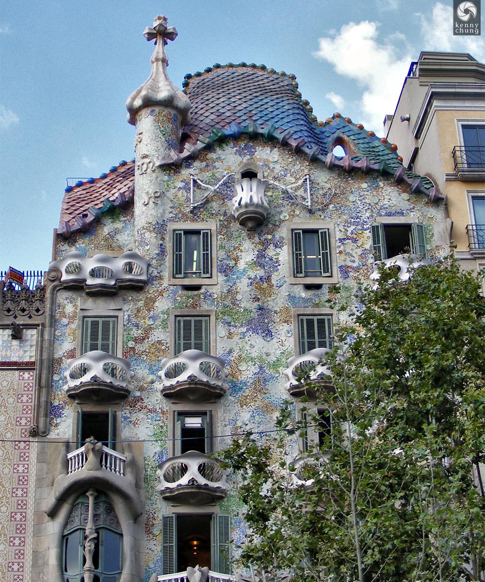Casa Batlló designed by Gaudi