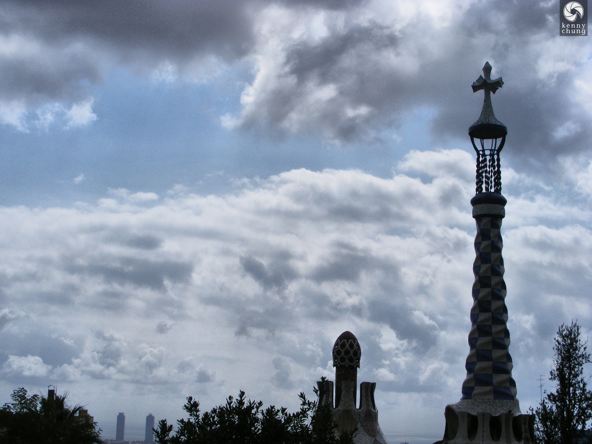 Park Güell cross tower