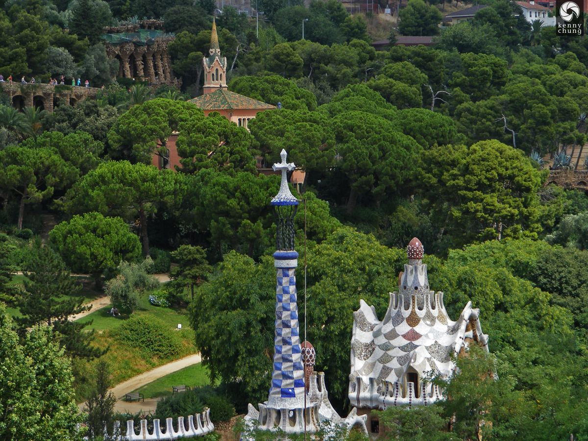 Park Güell view from the top