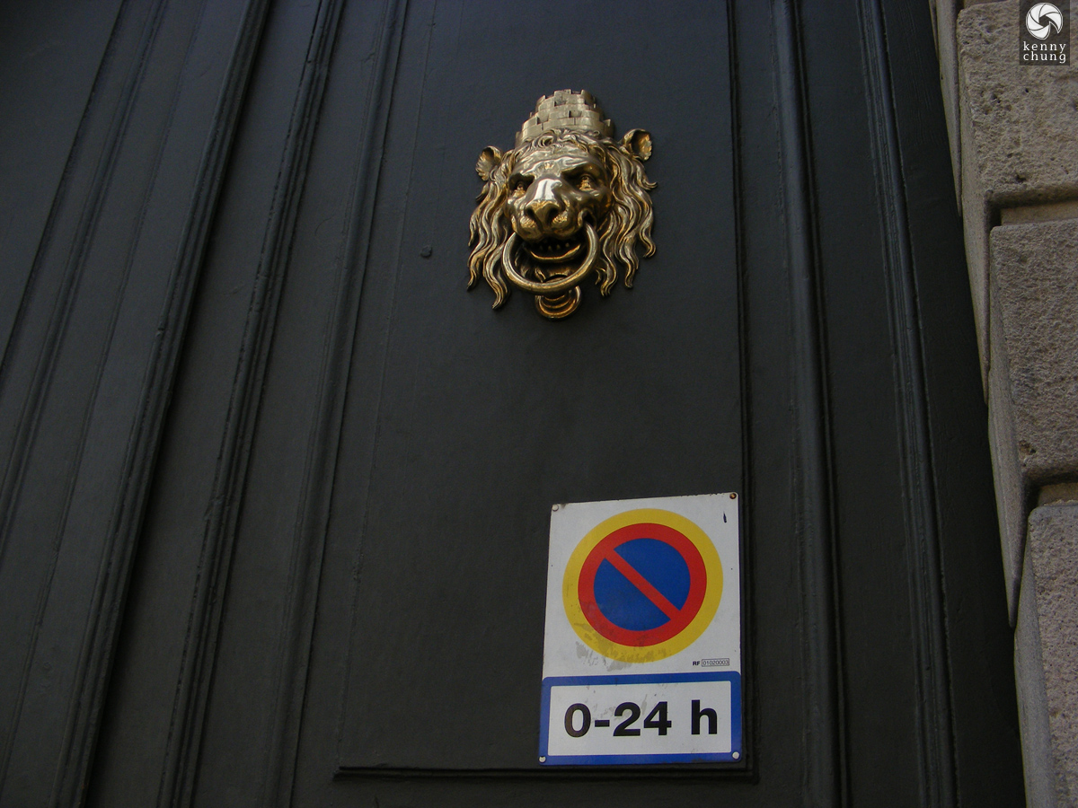 Lion Knocker Official Door