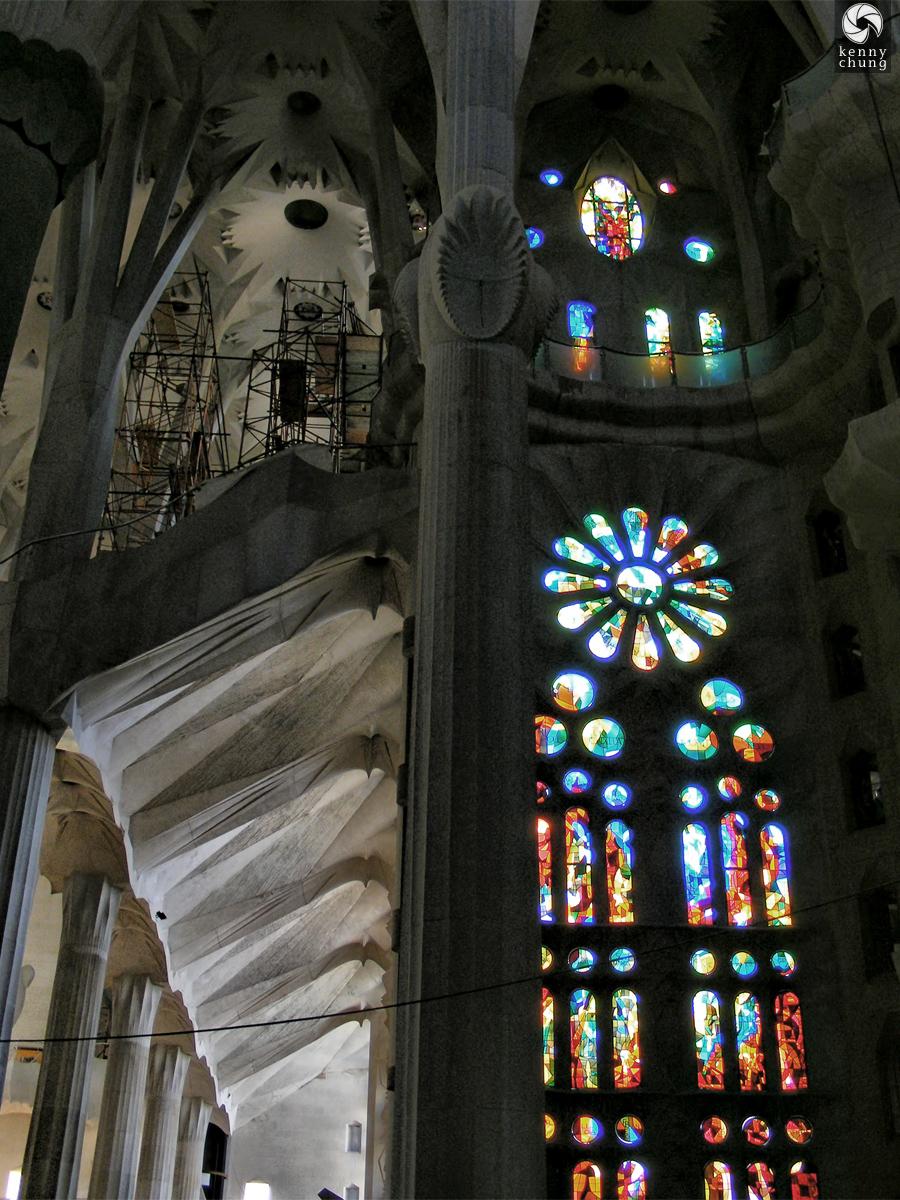 Glasswork of Sagrada Família
