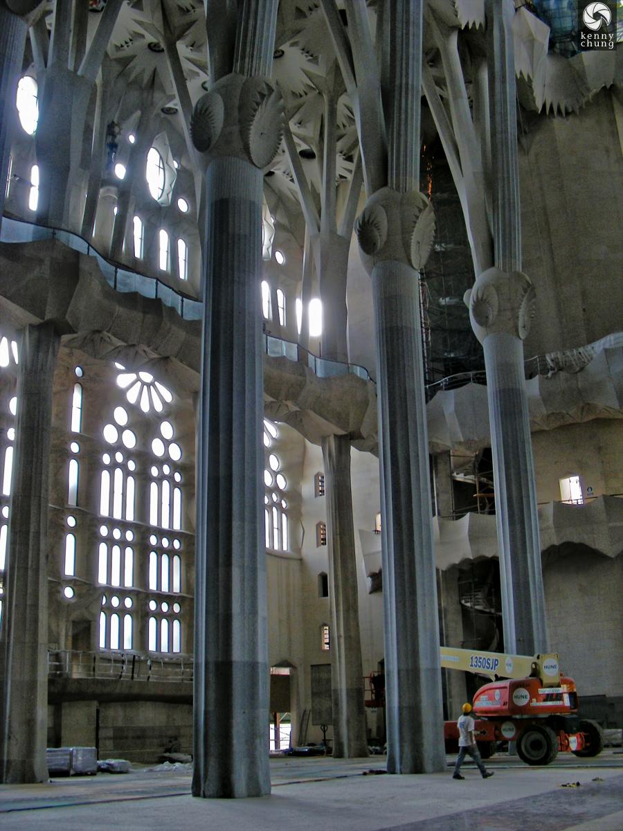 Sagrada Família inner construction