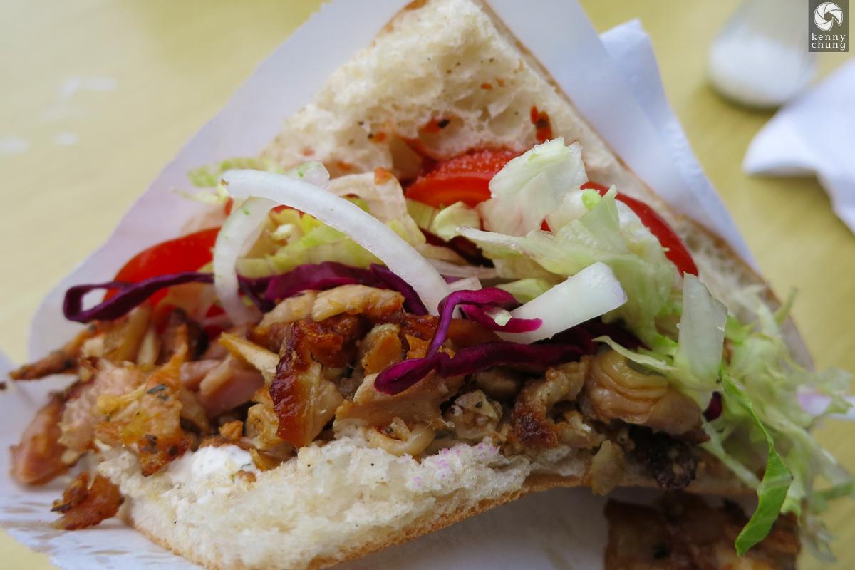 Doner sandwich from Rosenthaler Grill und Schlemmerbuffet in Mitte, Berlin.