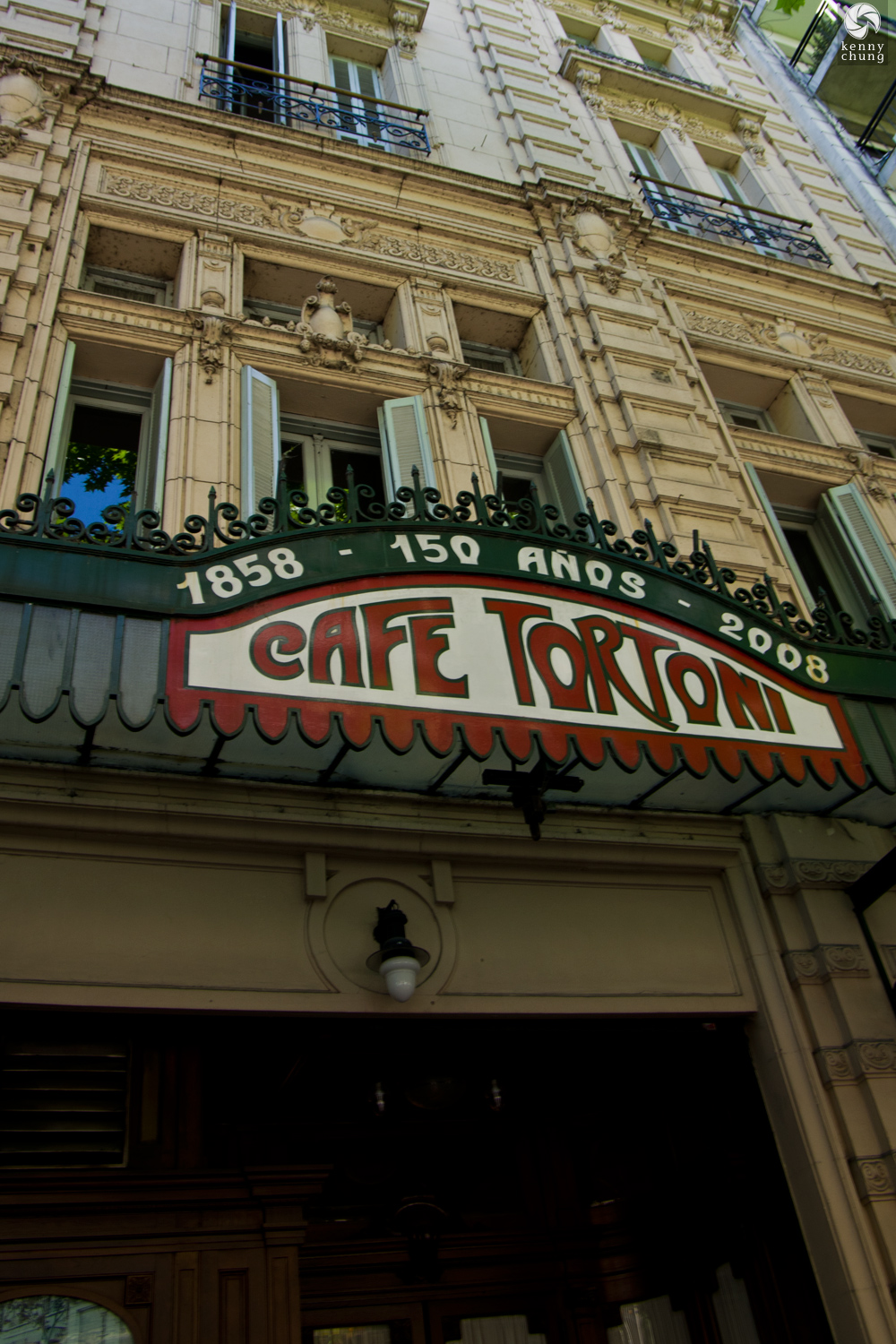 Door and logo for Cafe Tortoni in Buenos Aires