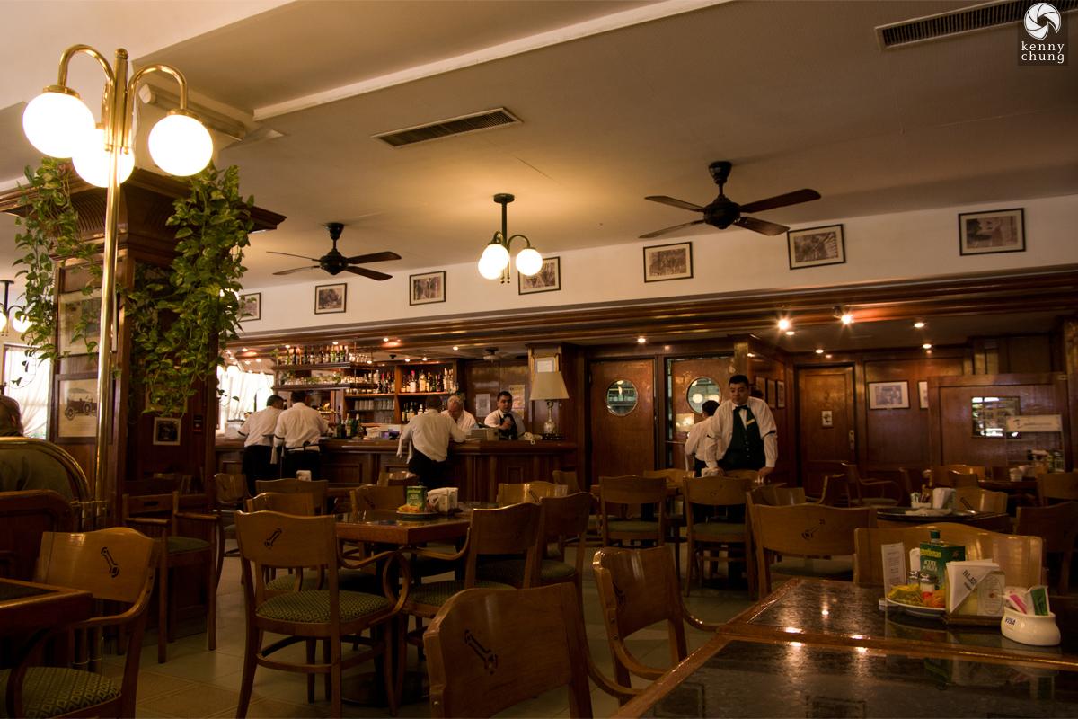 Interior of Cafe La Biela in Buenos Aires