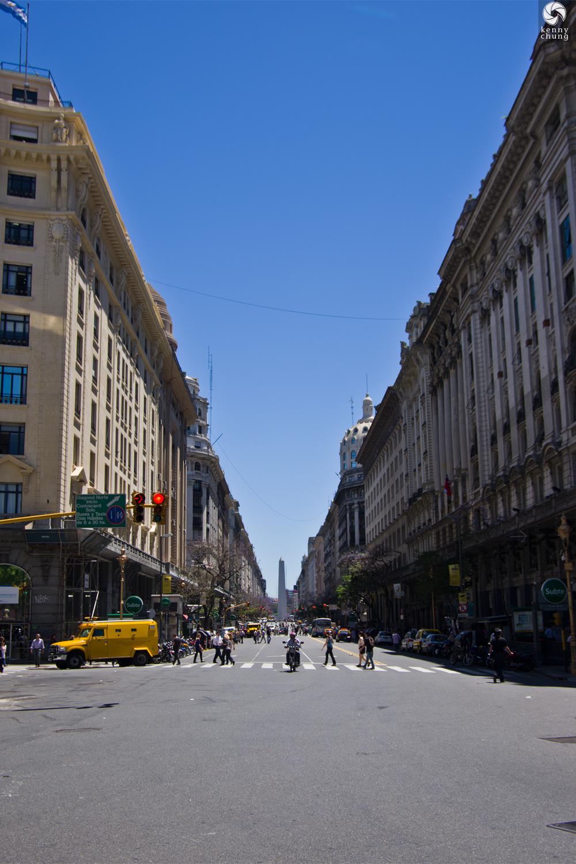 Obelisco de Buenos Aires from Avenida Roque Saenz Pena