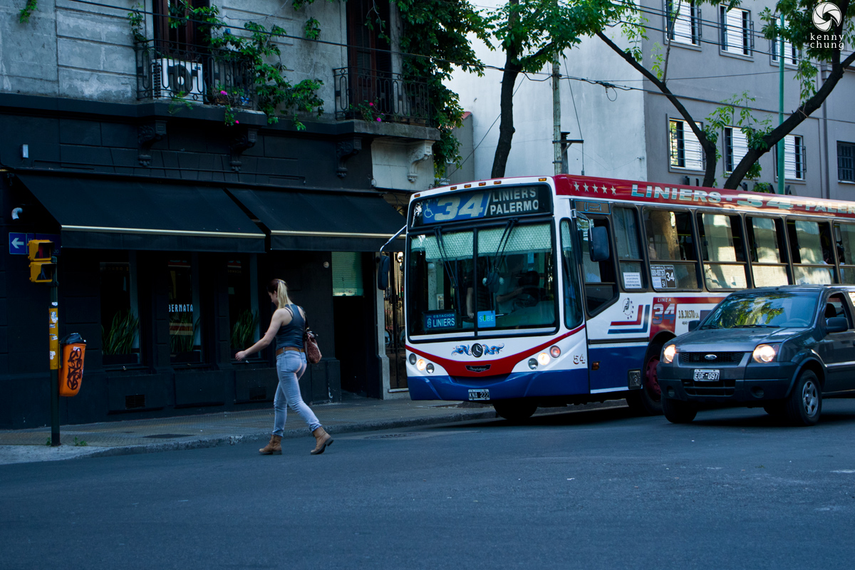 A 34 Liniers Palermo bus in Buenos Aires