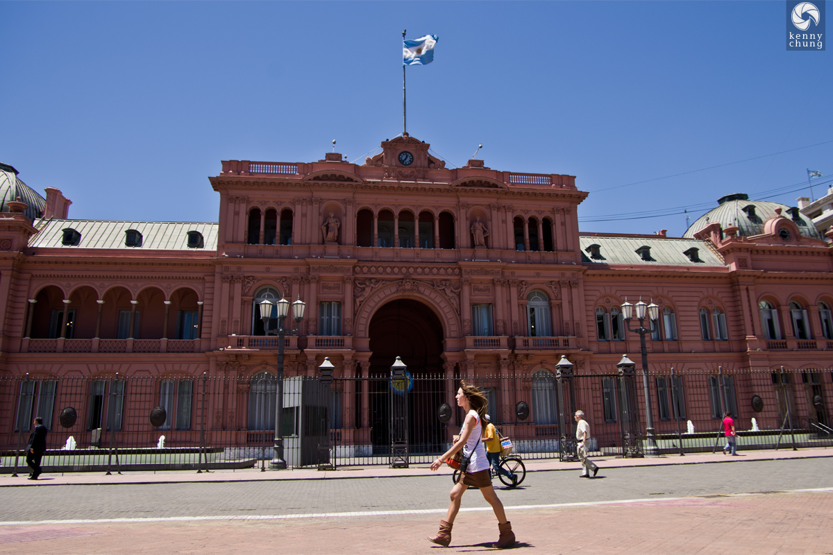 La Casa Rosada or The Pink House in Argentina