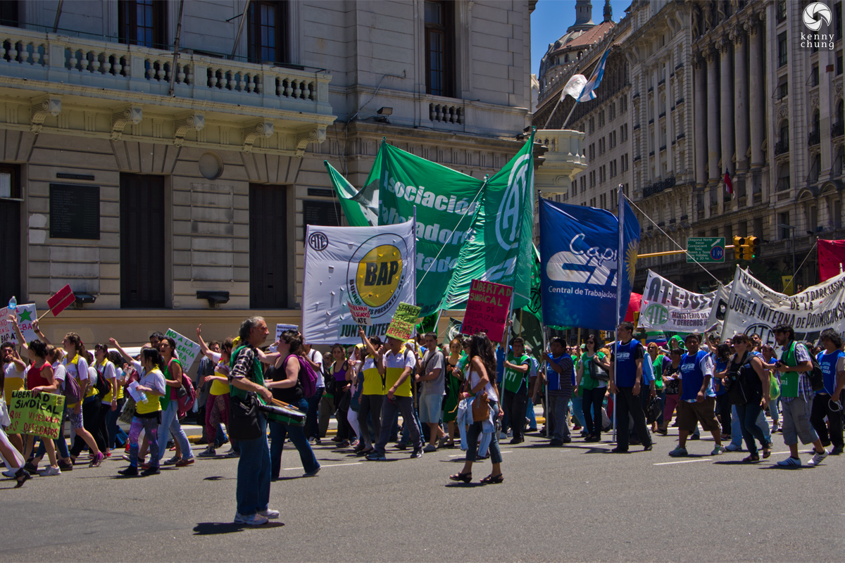 Junta Interna Bap Ate Protest in Plaza de Mayo