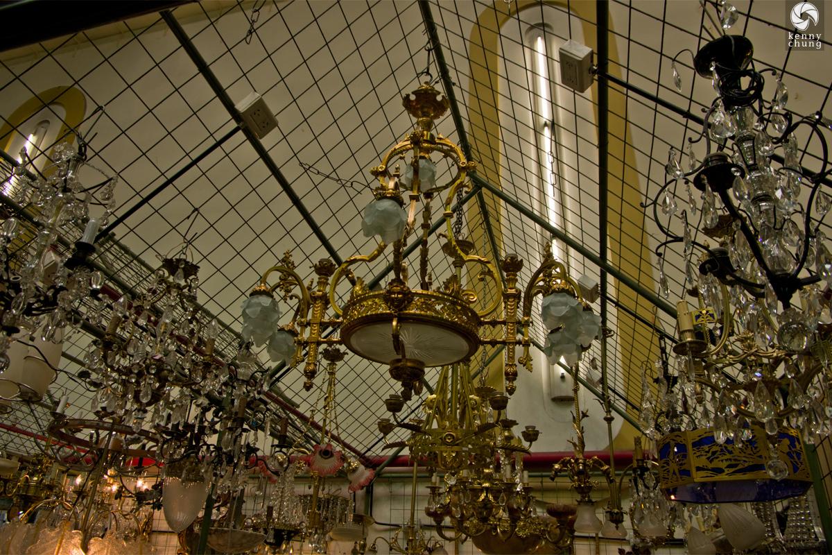 Chandeliers at Galeria de la Inmaculada Concepcion market