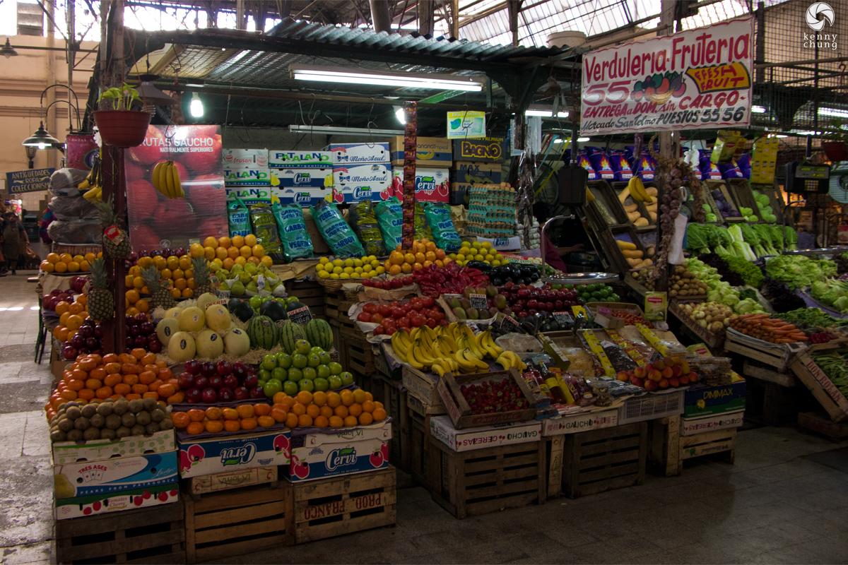A fruit stand at Mercado de San Telmo, Buenos Aires