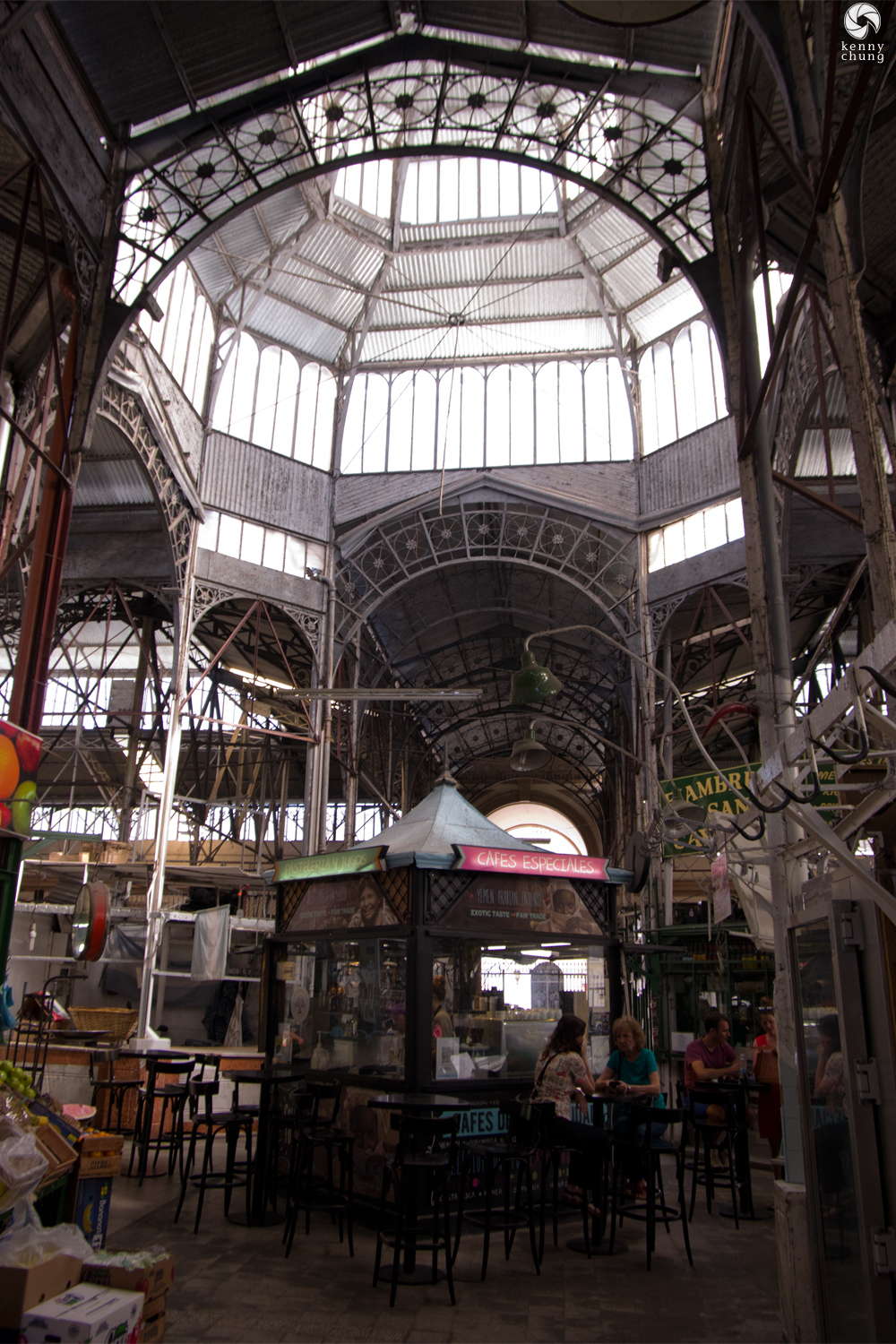 Skylight and Cafe at Mercado de San Telmo
