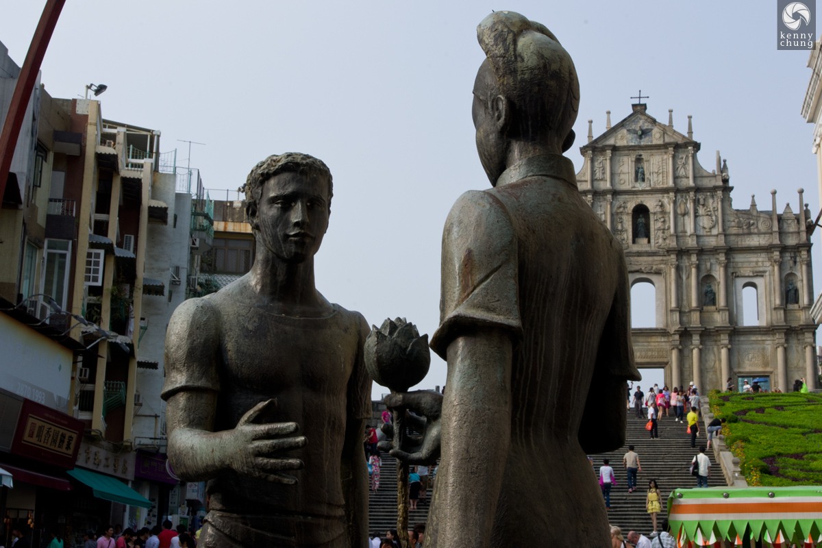 Friendship Statue in Senado Square, Macau
