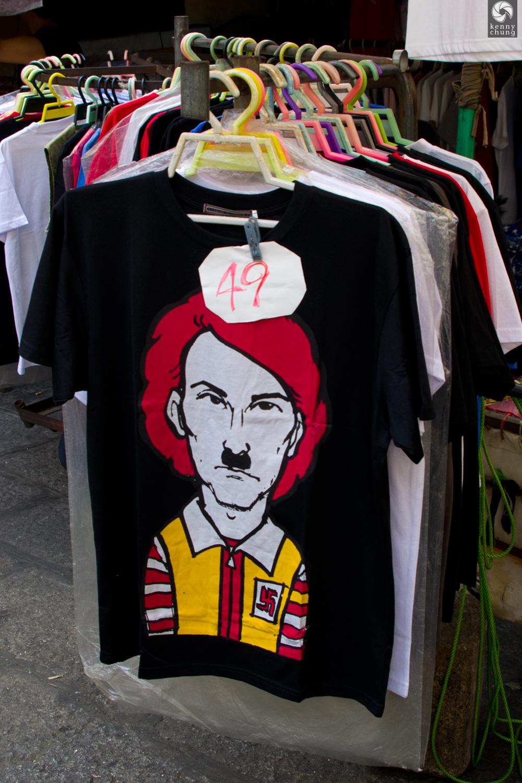 Ronald McDonald/Adolf Hitler t-shirt