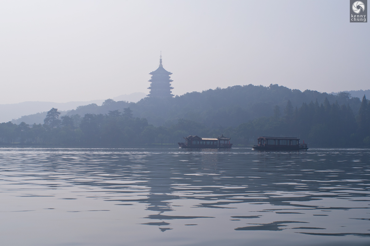 Leifeng Pagoda as seen from West Lake