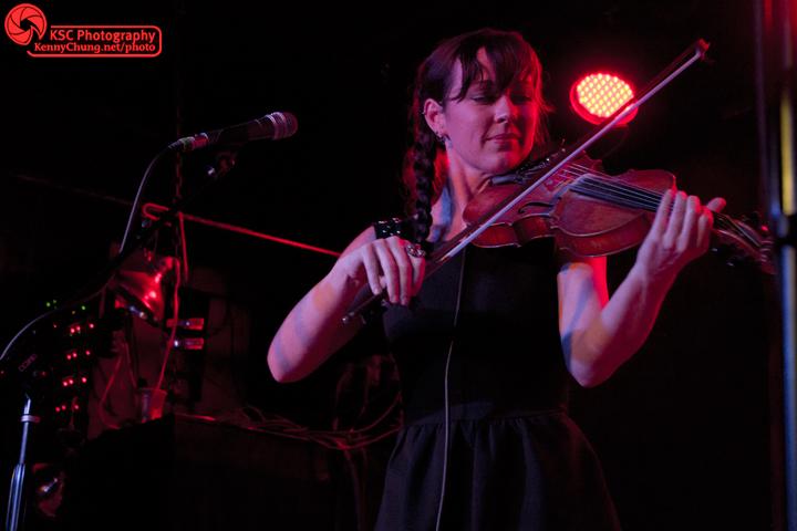 Amanda Shires playing the violin at The Rock Shop Brooklyn