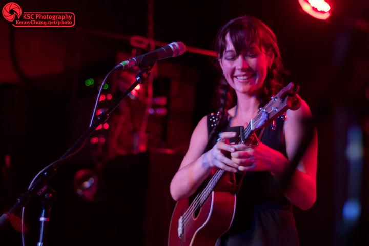 Amanda Shires smiling at The Rock Shop Brooklyn