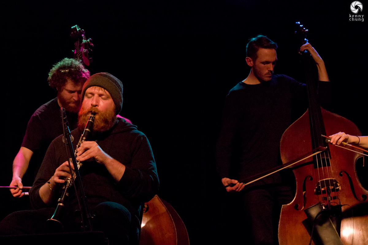 Bing and Ruth clarinet player Jeremy Viner at Littlefield, NYC