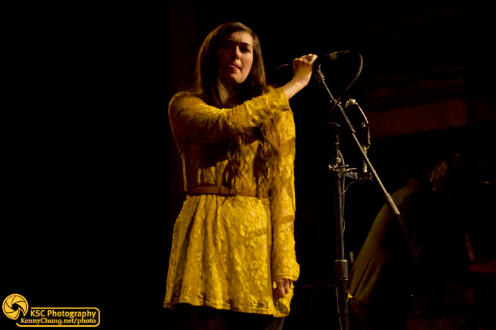 Cults singer Madeline Follin at Webster Hall