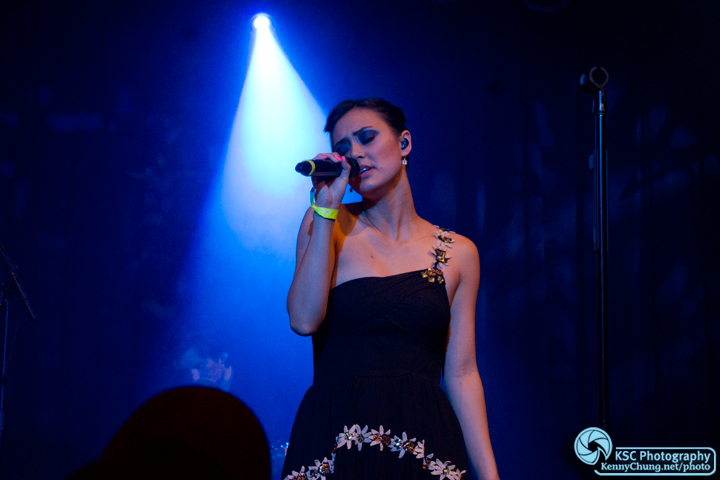 Dia Frampton singing at Highline Ballroom