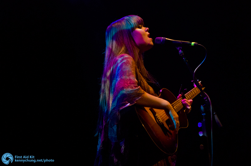 Klara Soderberg of First Aid Kit singing Emmylou at Music Hall of Williamsburg