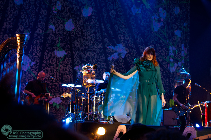 Most of the Florence + The Machine band at Central Park Summerstage