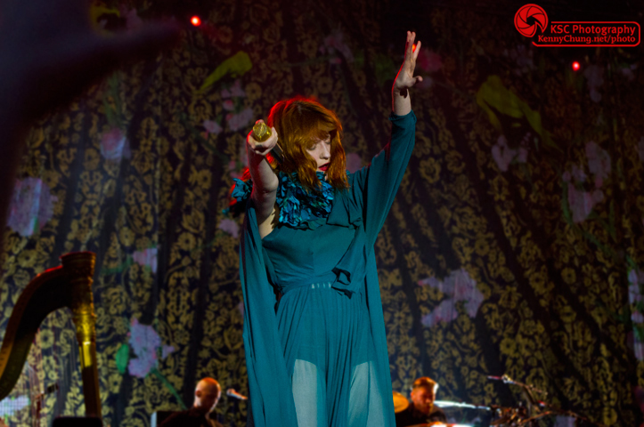 Florence + The Machine performing the song Howl at Central Park Summerstage