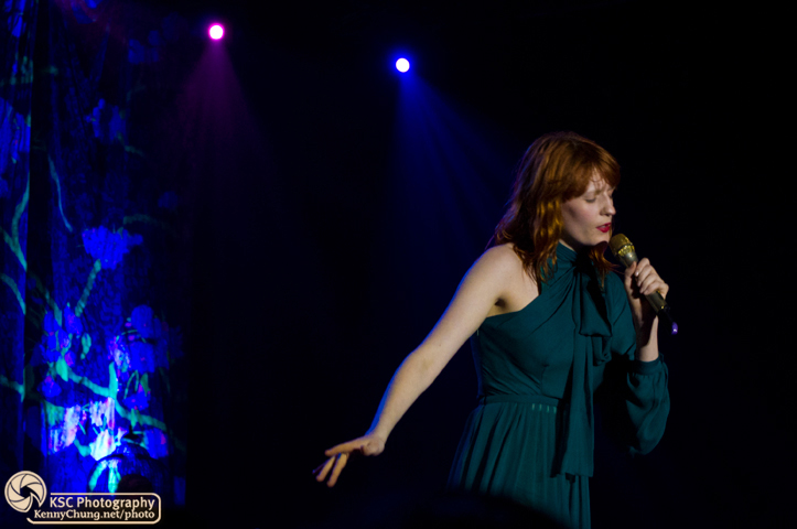 Florence + The Machine finishing their set at Central Park Summerstage