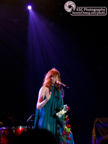 Florence + The Machine singing at Central Park Summerstage