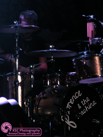 Florence and The Machine Logo on drums