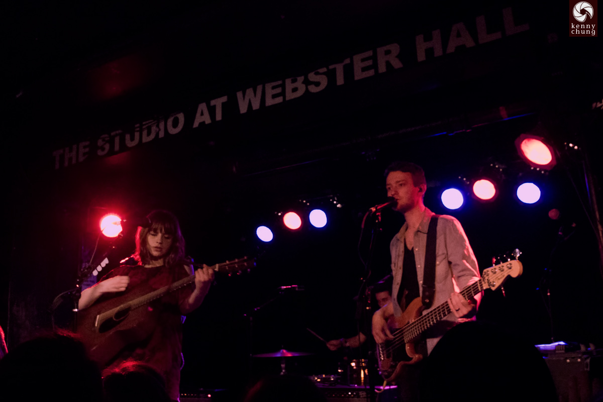 Gabrielle Aplin and her band on stage at Webster Hall, NYC