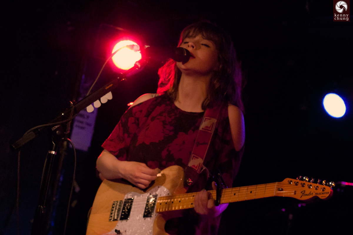 Gabrielle Aplin at Webster Hall, NYC playing her Fender Thinline Telecaster guitar