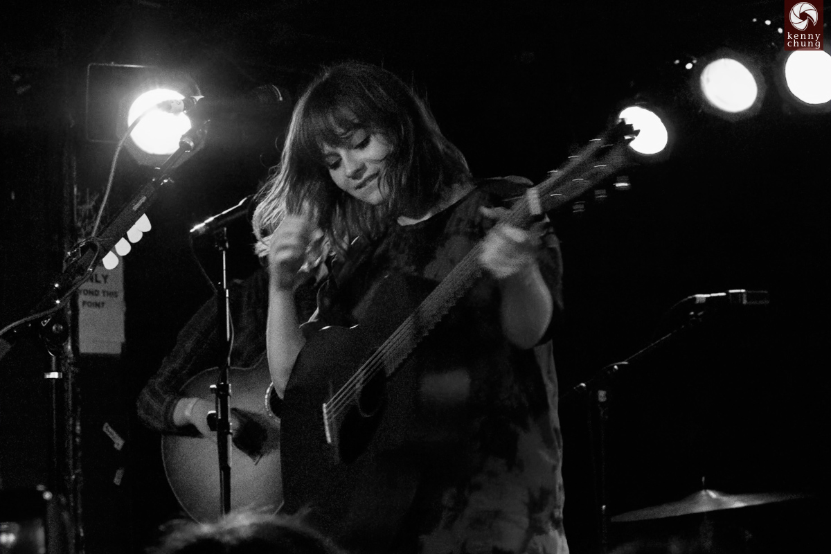 Gabrielle Aplin with her Martin acoustic/electric guitar at Webster Hall, NYC