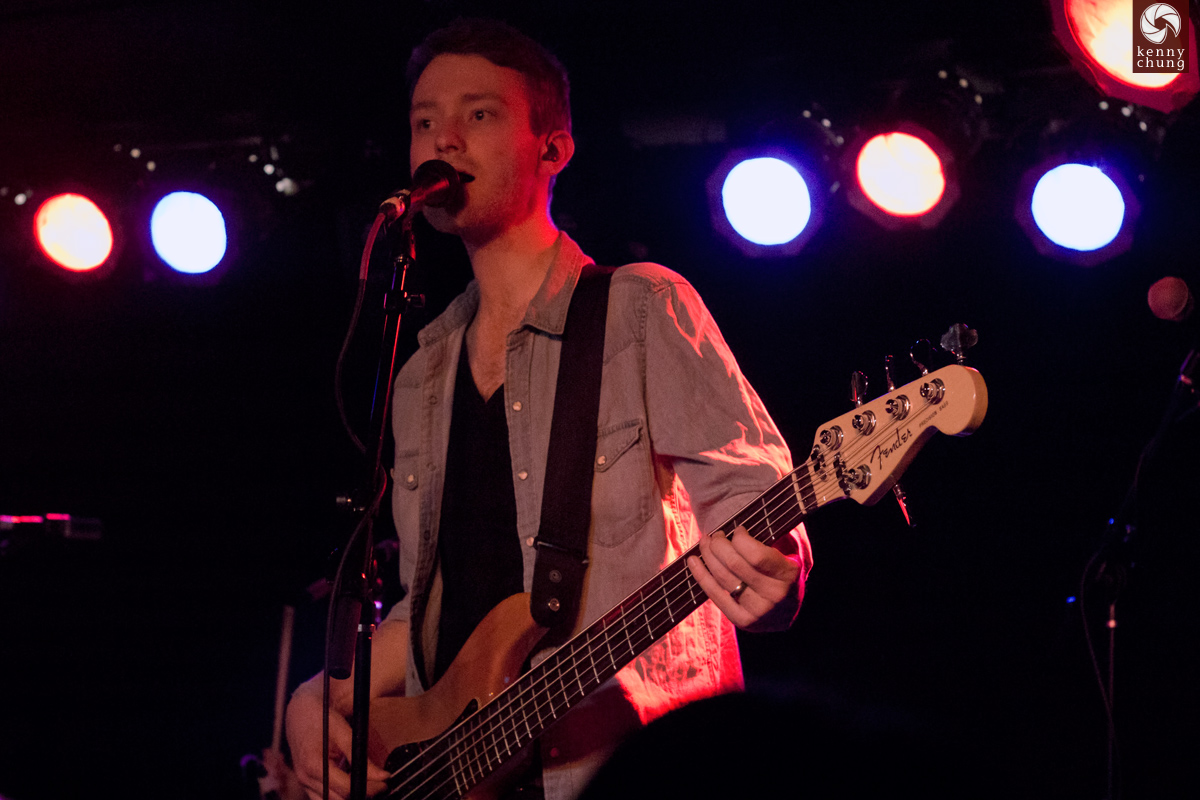 Gabrielle Aplin's bassist at Webster Hall, NYC