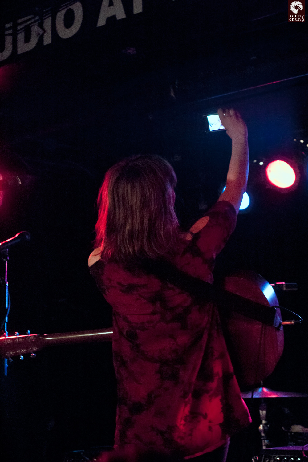 Gabrielle Aplin taking a selfie with the crowd at Webster Hall, NYC