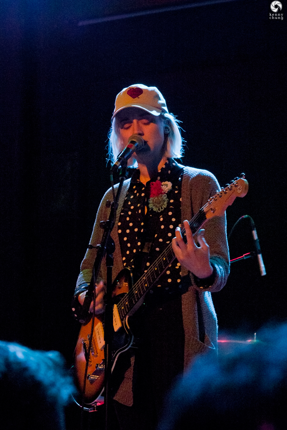 Kiley Lotz of Petal playing her Reverend Charger 290 guitar at the Bowery Ballroom