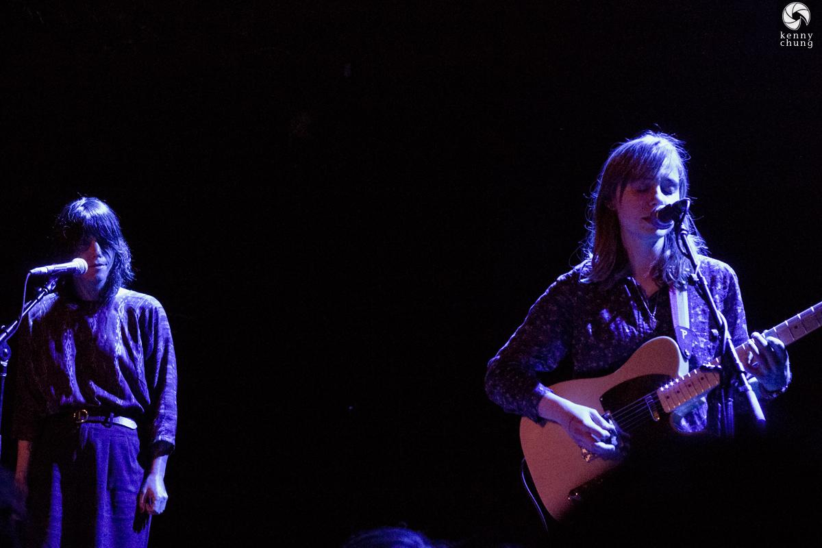 Sharon Van Etten on stage with Julien Baker at the Bowery Ballroom