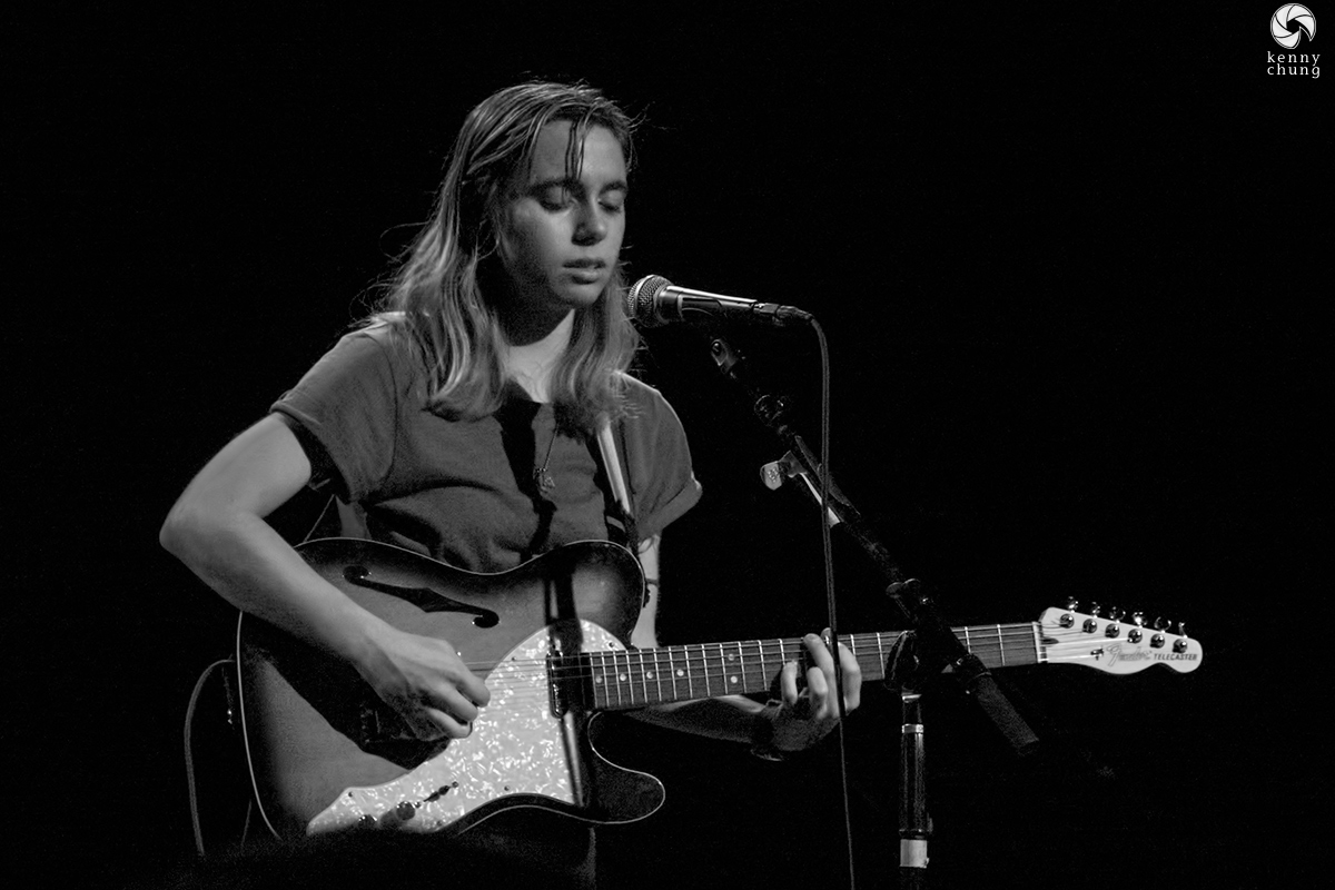 Julien Baker in black and white in Brooklyn, NY