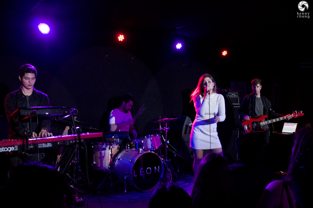 LEON and her band at Mercury Lounge, NYC