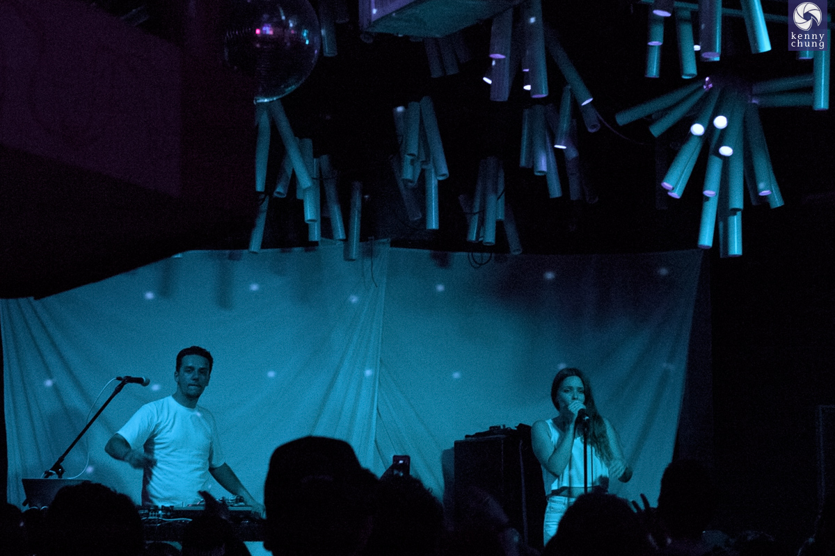 MADE IN HEIGHTS on stage at Glasslands, Brooklyn