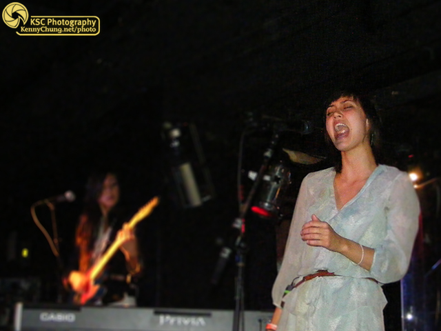 Dia Frampton performing with Meg & Dia at Webster Hall
