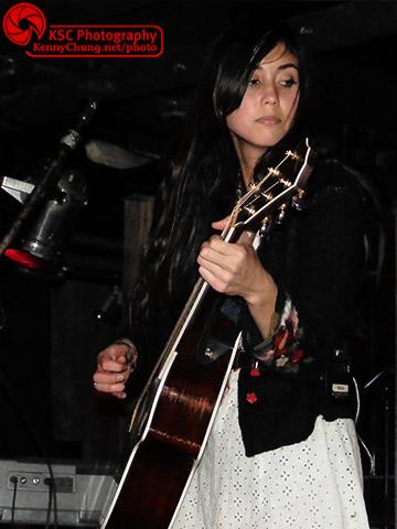 Meg Frampton playing guitar at Webster Hall