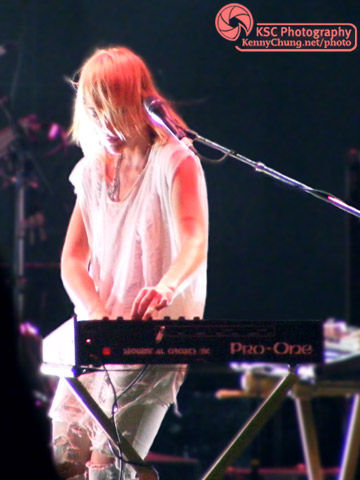 Emily Haines of Metric on her synthesiser