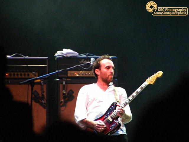 Jimmy Shaw of Metric playing guitar