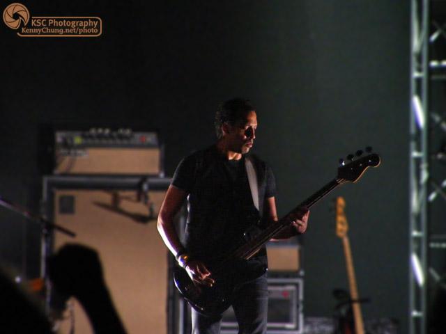 Josh Winstead of Metric playing bass