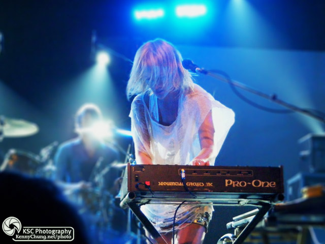 Emily Haines playing Dead Disco on synthesiser