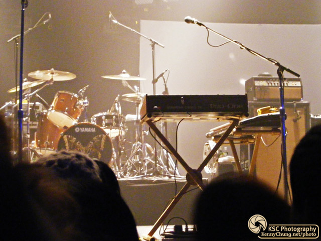 Metric drums, synth, keyboards, bass amp