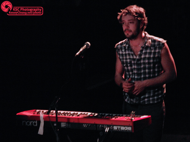 Mumford & Sons keyboard player Ben Lovett at Terminal 5