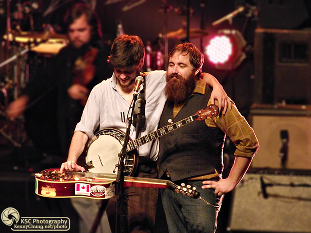 Mumford & Sons winston Marshall and Dave Mayfield of Cadillac Sky