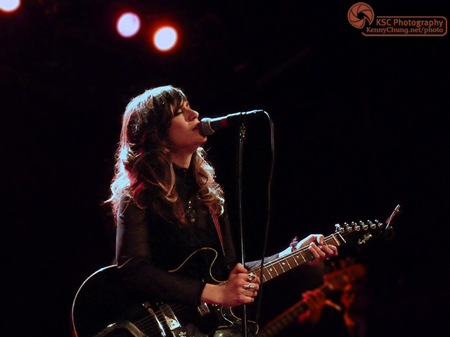 Nicole Atkins playing Hagstrom guitar